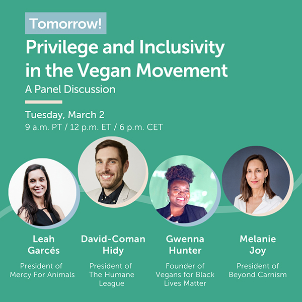 Privilege and Inclusivity in the Vegan Movement Panel
